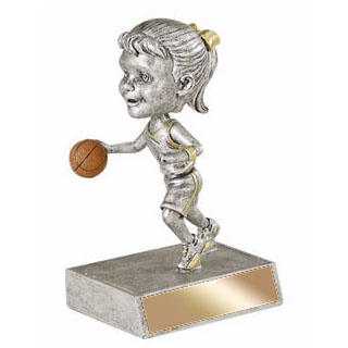 "5.5"" Basketball Bobble Head - Female"