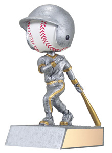 "5.75"" Bobble Head Baseball Trophy"