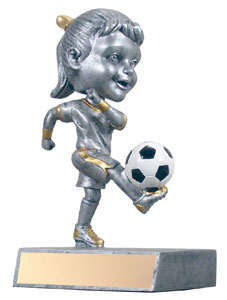 "5.5"" Soccer Bobble Head- Girl"