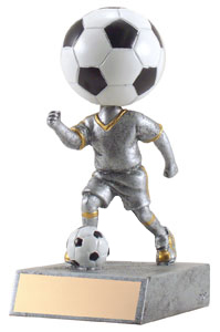 "5-1/2"" Soccerball Head Trophy"