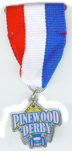 "1-1/4"" Pinewood Derby Medal"