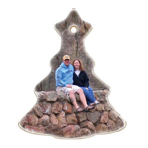 "3-1/4"" Ceramic Christmas Tree Ornament"