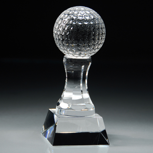 "6"" Crystal Golf Trophy"