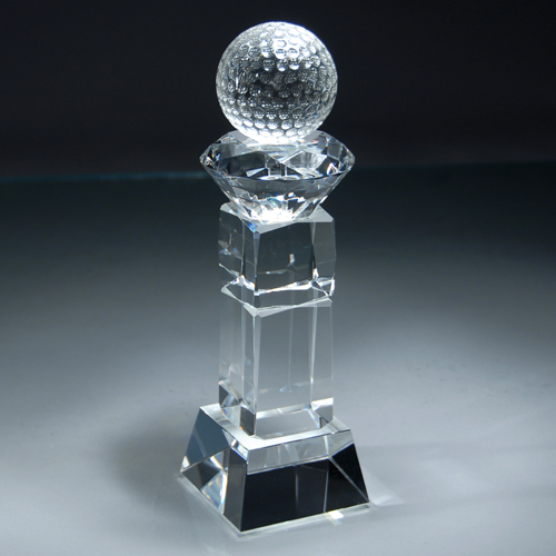"9 1/4"" Crystal Golf Award"