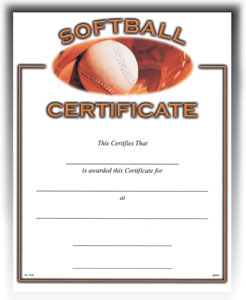 "Softball (8-1/2"" x 11"")"