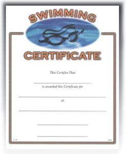 "Swimming (8-1/2"" x 11"")"