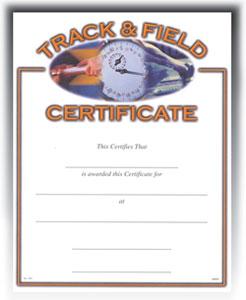 """Track & Field (8-1/2"""" x 11"""")"""