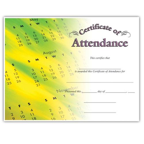 Attendance (8-1/2 in x 11 in)