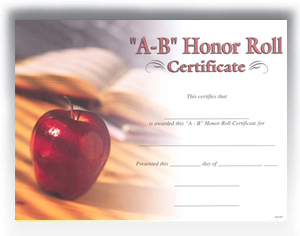 A-B Honor Roll (8-1/2 x 11)