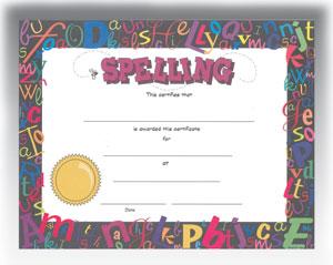 "Spelling (8.5"" x 11"")"
