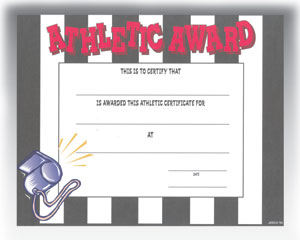 "Athletic Award (8.5"" x 11"")"
