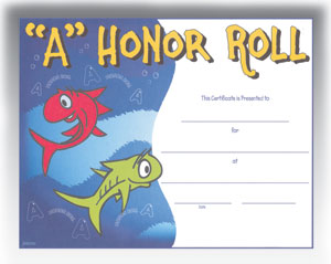 A Honor Roll (8.5 in x 11 in)