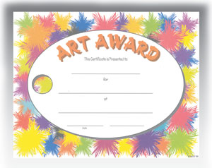 Art Award (8.5 in x 11 in)