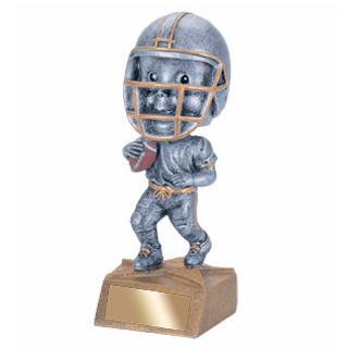 5-3/4 in Football Bobble Head Trophy