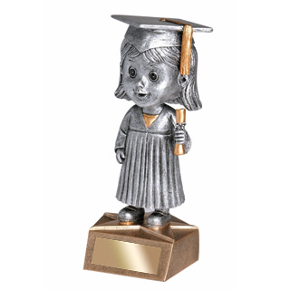 5.75 in Graduate Bobble Head - Female