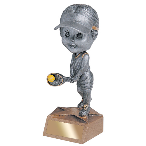 "5.75"" Tennis Bobble Head - Female"