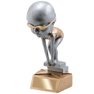 "6"" Female Swimming Bobble Head Trophy"