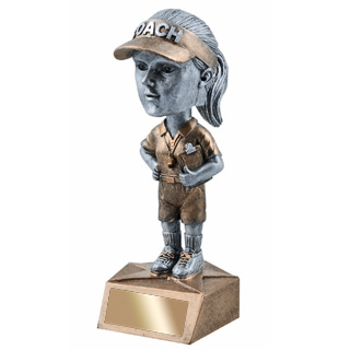 "5-3/4"" Female Coach Bobble Head"