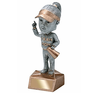 6 in Team Mom Bobble Head Trophy