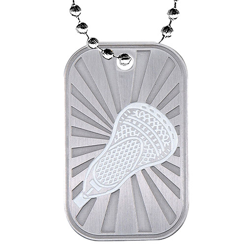 "2"" Lacrosse Dog Tag w/ Chain"