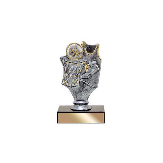 "5"" Pewter Basketball Trophy"