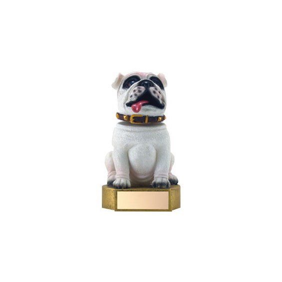 "6"" White Bulldog Mascot Bobble Head"