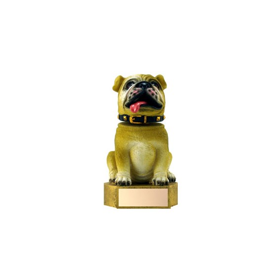 6 in Brown Bulldog Mascot Bobble Head