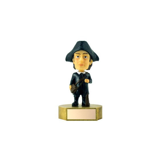 6 in Patriot Mascot Bobble Head