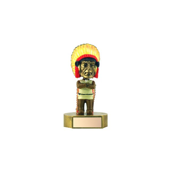 6 in Indian Mascot Bobble Head