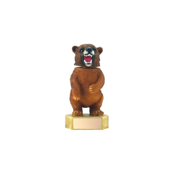 "6"" Bear Mascot Bobble Head"