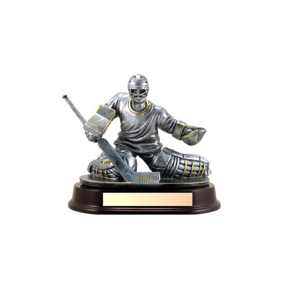 "7"" Hockey Goalie Trophy - Male"