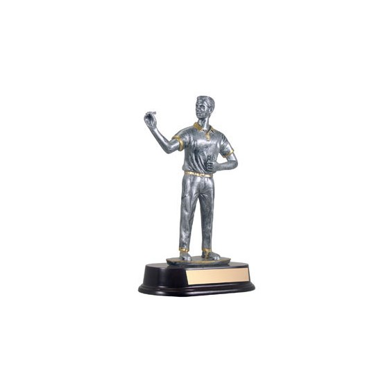 "9"" Male Resin Sculpture Darts Trophy"