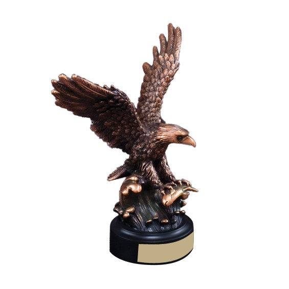 "8 1/4"" Resin Eagle Sculpture"