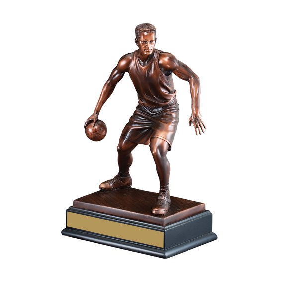 "14 1/2"" Male Sculpture Basketball Trophy"