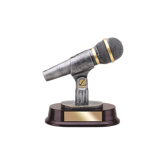 "6-1/2"" Microphone Resin Trophy"