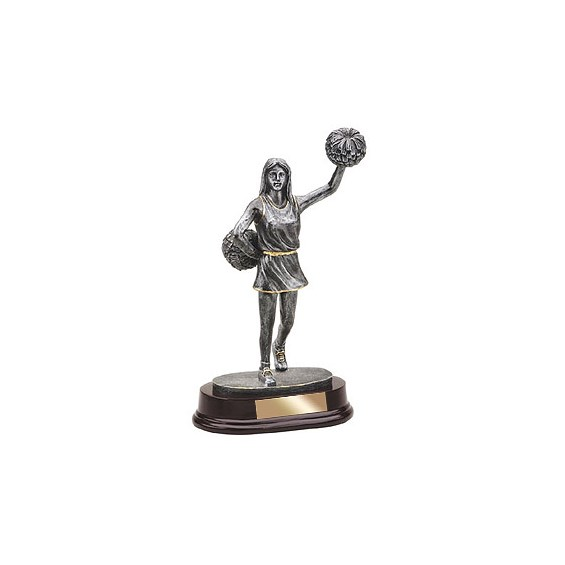 "10"" Cheerleader Rein Trophy"
