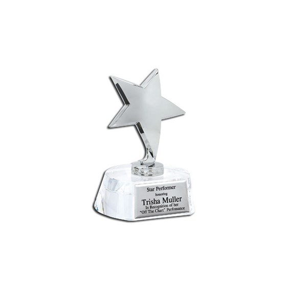"5-3/4"" Crystal Star Award"