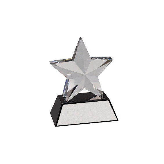 "6"" Crystal 3-D Star Award"