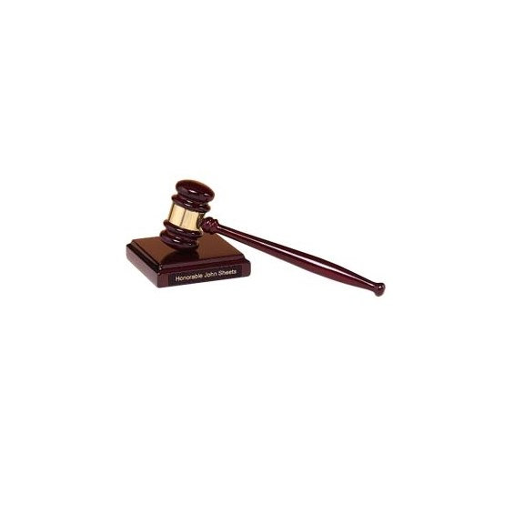 Rosewood Gavel / Sounding Block