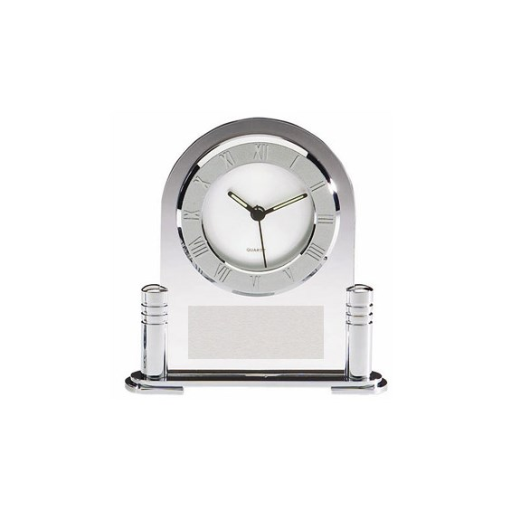 Chrome & Acrylic Desk Clock