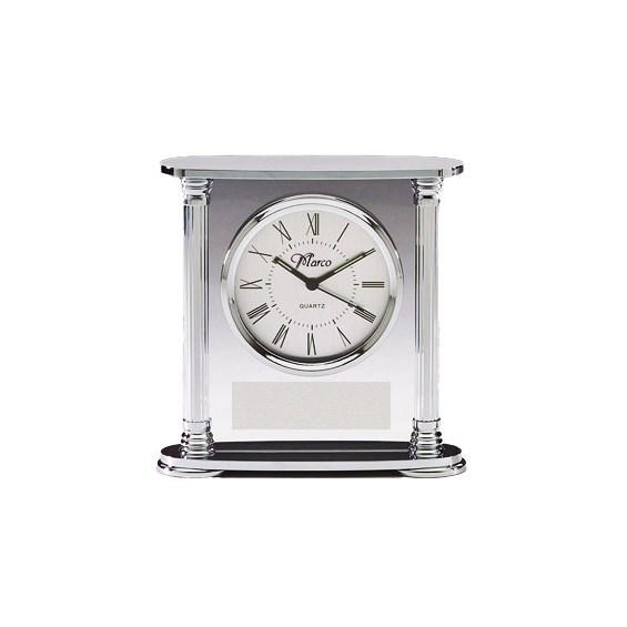 Chrome & Acrylic Desk Clock