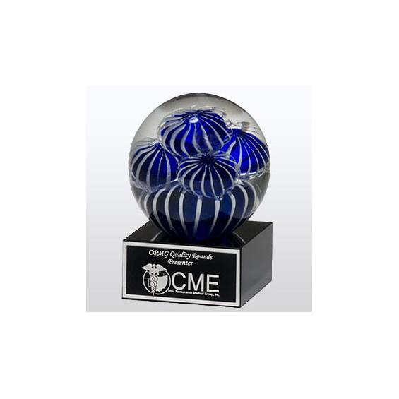 """3.5"""" X 5"""" Art Glass Globe Award"""