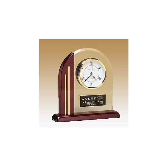 Arch Clock w/ Glass Upright