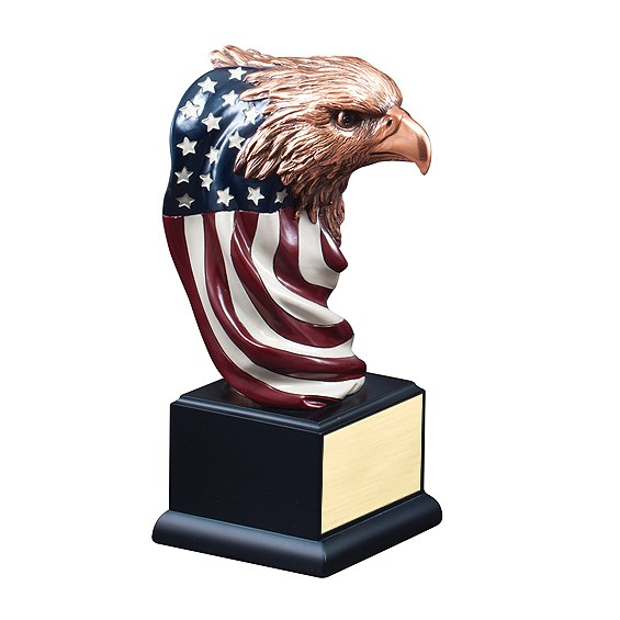"9-1/2"" Eagle w/ Flag Resin"