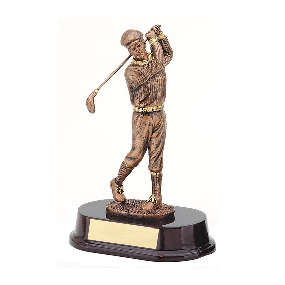 "8.5"" Bronze Male Golf Resin"
