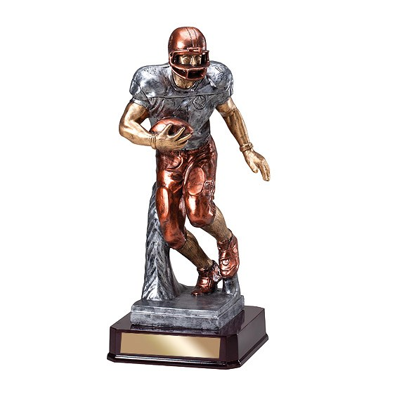 "15-3/4"" Football Runner Resin"
