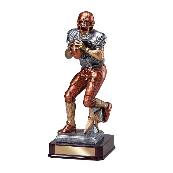 "16.5"" Football Quarterback Resin"