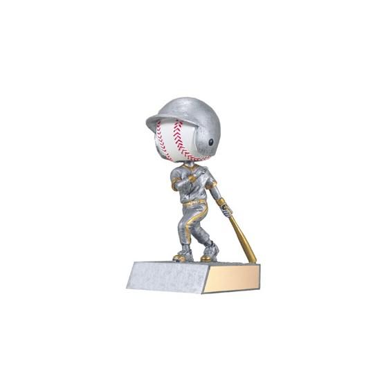 5.75 in Bobble Head Baseball Trophy