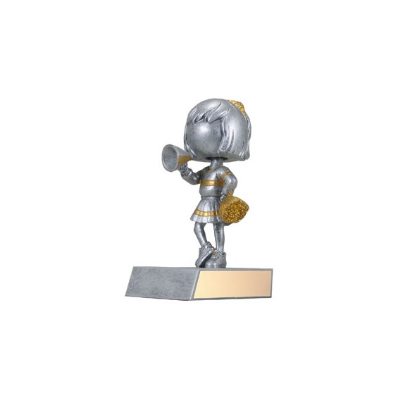 "5-1/2"" Cheerleader Bobble Head Trophy"