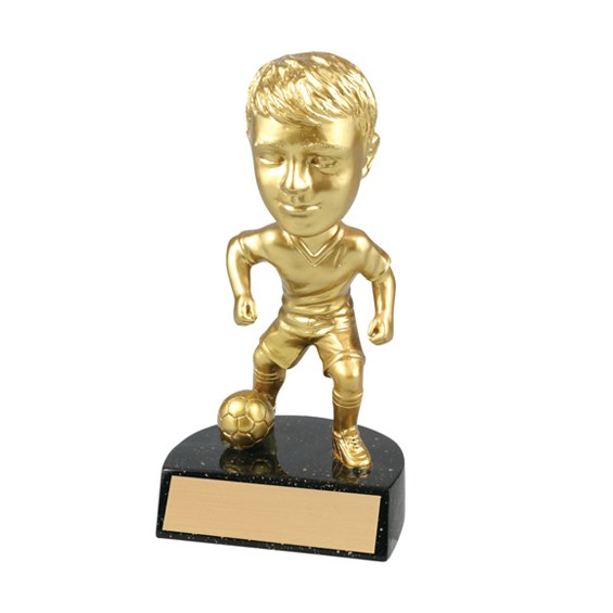 "6"" Resin Male Soccer Bobblehead Trophy"